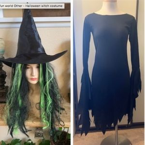 Fun World Other - Fun World Witch dress, hat and wig  is included